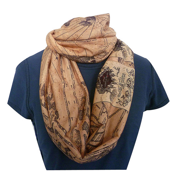 Mauraders map scarf